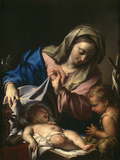 Madonna With Child and Saint John Giclee Print by Francesco Trevisani
