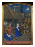 Birth of Christ and Adoration of the Shepherds Poster by Jean Fouquet