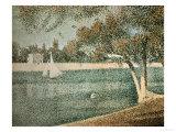 The Seine Near Grande Jatte Gicléedruk van Georges Seurat