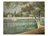The Seine Near Grande Jatte Poster by Georges Seurat