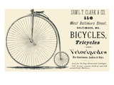 Bicycles, Tricycles, and Velocipedes Affiche