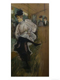 Jane Avril Dancing Posters by Henri de Toulouse-Lautrec