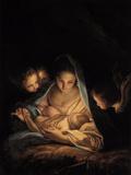 The Holy Night Giclée-tryk af Carlo Maratti