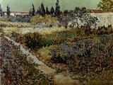 Blossoming Garden and Path Giclée-Druck von Vincent van Gogh