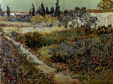 Blossoming Garden and Path Giclee Print by Vincent van Gogh