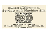 Brainerd and Armstrong Co. Sewing and Machine Silk Posters