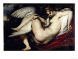 Leda and the Swan Poster von Peter Paul Rubens