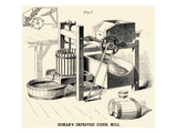 Homan's Improved Cider Mill Poster
