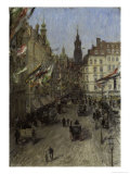 View of Dresden Reproduction procédé giclée par Gotthardt Johann Kuehl