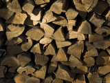 Close Up of a Pile of Firewood Photographic Print by Todd Gipstein