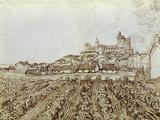 View of Saintes-Maries Print by Vincent van Gogh