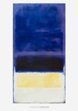 Untitled (Blue, Dark Blue, Yellow) Art par Mark Rothko