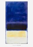 Untitled (Blue, Dark Blue, Yellow) Trykk-samleobjekter av Mark Rothko