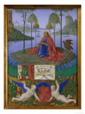 St. John on Patmos Print by Jean Fouquet