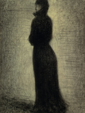 Woman in Black Giclee Print by Georges Seurat