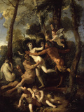 Pan and Syrinx Giclee Print by Nicolas Poussin