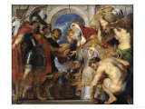 The Meeting of Abraham and Melchizedek Lámina giclée por Peter Paul Rubens