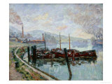 The Barges Print by Armand Guillaumin