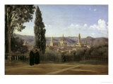 View of Florence Posters by Jean-Baptiste-Camille Corot