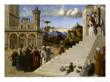 Mary in the Temple Giclee Print by Giovanni Battista Cima Da Conegliano