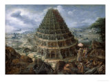 The Tower of Babel Giclee Print by Marten van Valckenborch