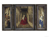 Mary and Child Enthroned Posters by  Jan van Eyck