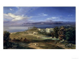 The Straits of Messina Gicl&#233;e-Druck von Carl Rottmann