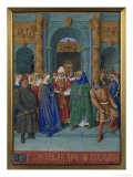 Mary's Marriage Poster by Jean Fouquet
