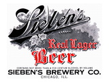 Sieben's Real Lager Beer Prints