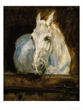 "The White Horse ""Gazelle"" Giclee Print by Henri de Toulouse-Lautrec"