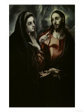 Christ Bids Farewell To His Mother Lámina giclée por  El Greco