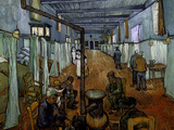 Ward in the Arles Hospital Print by Vincent van Gogh