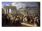 Napoleon&#39;s Entry Into Berlin Giclee Print by Charles Meynier