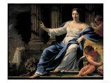 Polyhymnia Giclee Print by Simon Vouet