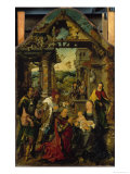 Die Anbetung der Koenige Poster von Joos Van Cleve