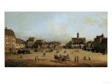 The Market in Dresden Giclee Print by  Canaletto