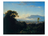 Morning Near Palestrina Giclee Print by Ludwig Richter