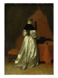 A Lady in White Satin Giclee Print by Gerard Terborch