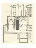 Steam Power Piston Chamber Cutaway Affiches
