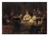 Samson's Wedding Print by  Rembrandt van Rijn