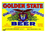 Golden State Beer Print