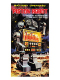 Battery Operated Piston Robot Poster