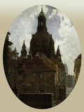 Dresden Frauenkirche Poster by Gotthardt Johann Kuehl