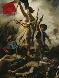 Liberty Leading the People Reproduction procédé giclée par Eugene Delacroix