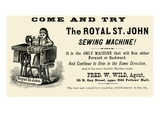 The Royal St. John Sewing Machine Posters
