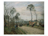The Road of Louveciennes Posters by Camille Pissarro