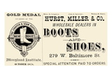 Hurst Miller and Co. - Wholesale Dealers in Boots and Shoes Print