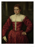 Portrait of a Woman From the Fugger Family Giclée-tryk af Paris Bordone