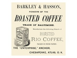 Barkley and Hasson Roasted Coffee Print