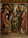 Disputation of St.Augustine With Heretics Impressão giclée por Michael Pacher